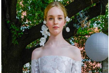 时尚婚礼的新娘造型,奢华配饰点燃浪漫