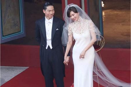 林志玲婚礼全细节曝光,场地伴手礼婚纱简朴浪漫