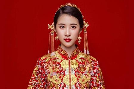 秀禾服新娘造型图片,刘诗诗唐嫣都选择的新娘礼服
