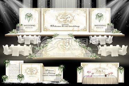 香槟色主题浪漫又温馨,适合秋季婚礼