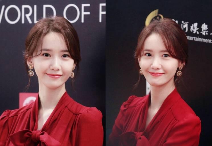 韩国女模特林允儿被称为甜美女神,一组红衣艳丽展现纯天然美貌(图片)