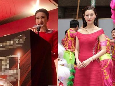 48岁李嘉欣和46岁黎姿红色连衣裙对比,一个天上,一个地下