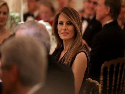特朗普的夫人梅拉尼娅,现身活动好身材吸晴。
