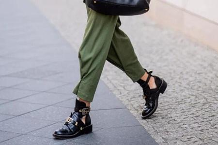 入秋时髦精穿什么鞋,短靴让你美得刚刚好