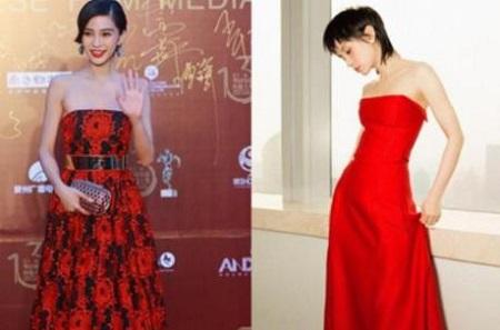 杨颖与王子文红色抹胸裙,网友:拒绝比较,都很漂亮