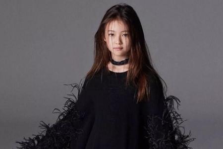 韩国10岁的混血超模,颜值高还很会穿,简直是穿搭模板