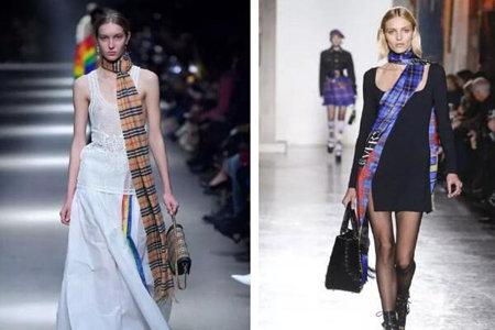 女生变身街头时尚女王,需要一条秀场大热单品围巾