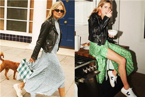 短外套和迷人裙子的混搭,让女生更有春日活力