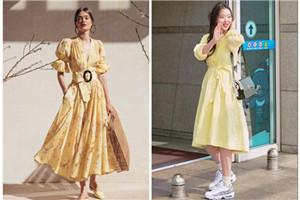 奶黄色温柔亮丽,成为春季最新时尚色