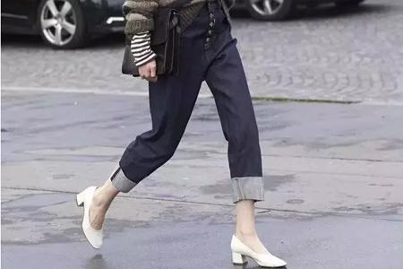 优雅法式奶奶鞋搭配复古来袭,圆头舒适不压脚