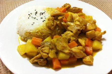 咖喱鸡肉和茄汁拌饭的简单做法,浓香四溢你更喜欢哪一款