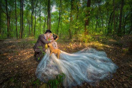 森系婚纱照怎么拍出效果,清新婚礼见证爱情