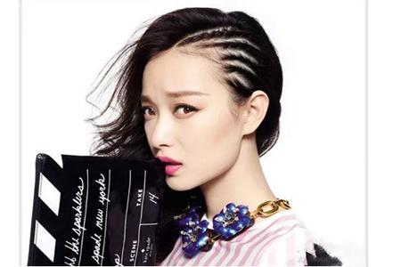 女生潮酷朋克发型,创意编发打造帅气风格