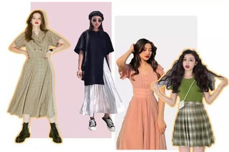 夏天裙子穿法有技巧,腰围收身显瘦又高挑