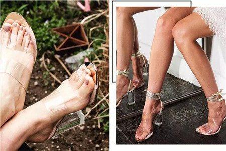 夏季女款高跟凉鞋穿出美丽,绑带方根款型图片