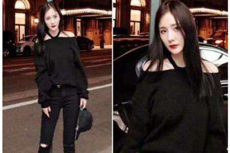 杨幂搭配紧身裤立显好身材,不愧是带货的时尚女王