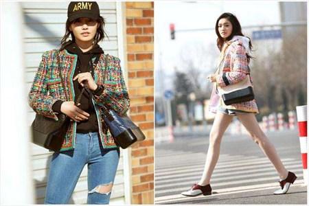 林允出街的包包叠背,成为今夏最时尚的背法 时尚 叠背 包包 林允 服饰搭配  第2张