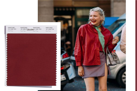 2019年流行色彩搭配设计,红梨色