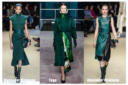 2019年流行色彩搭配设计,杜鹃绿色