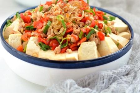 豆腐怎么做好吃?这道家常豆腐粉丝少油少盐营养健康又减肥