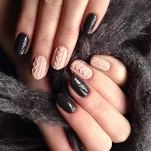 冬日美甲 让指尖和大衣一起美美的