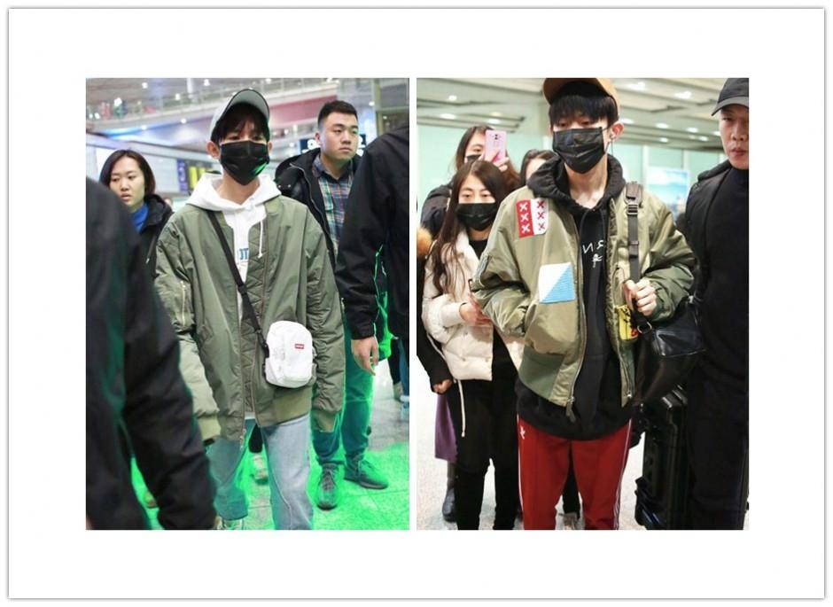 王源易烊千玺结束海外行程回国,一个细节展现默契兄弟情