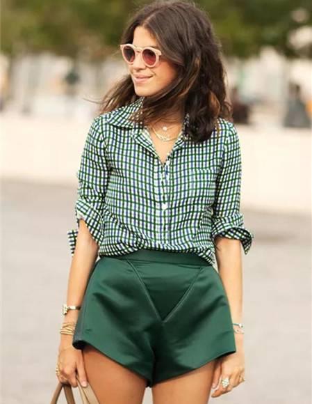 套路满满的短裤搭配,穿上显高又显瘦