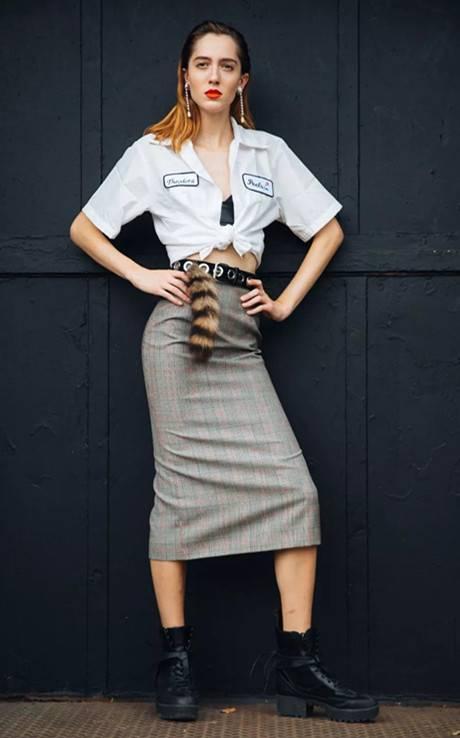 清爽格纹裙成为夏日最爱,英式复古永不退潮