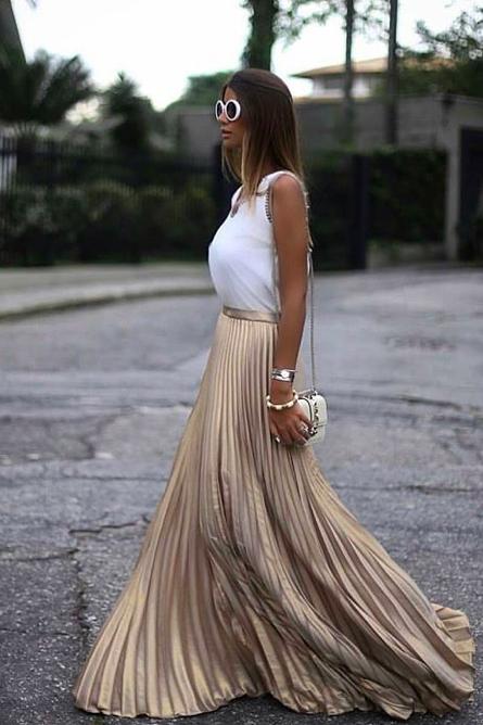 简简单单的百褶裙可甜美可帅酷