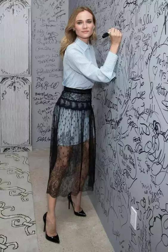蕾丝裙这样搭配,温柔的仙女气质