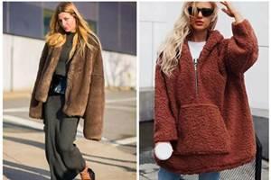 雪后穿起羊羔绒大衣,活力少女感时尚加分