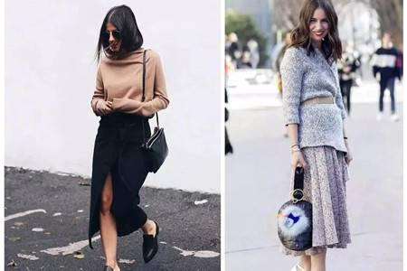 女生高挑身材离不开它,针织裙打造冬日时尚
