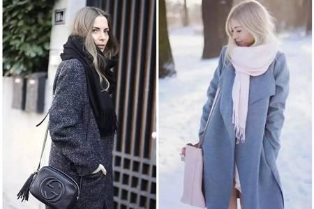 女生穿搭不能少了这一条围巾,配上冬季大衣气质满分