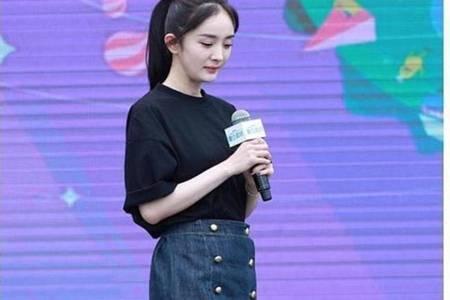 杨幂同款裙子图片,时尚街拍短裙穿搭显腿长