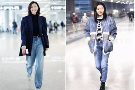 劉雯同款牛仔褲的春季款式,2020最流行的牛仔褲搭配