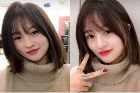 長臉女生適合什么發型,劉海縮短臉型拍照最好看的發型