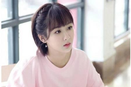 杨紫同款短发发型可爱容易驾驭,女生都能学的减龄编发
