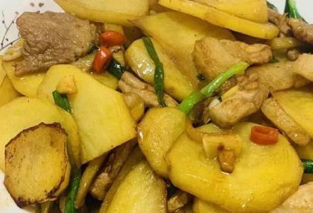 土豆炒肉片怎么做好吃?家常饭桌常见一道菜