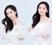 2020杨幂性感锁骨撩人大片 白色吊带裙定义街头时尚潮流
