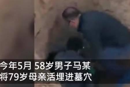 陕西男子活埋79岁母亲获刑12年 男子活埋老母亲的原因究竟是什么