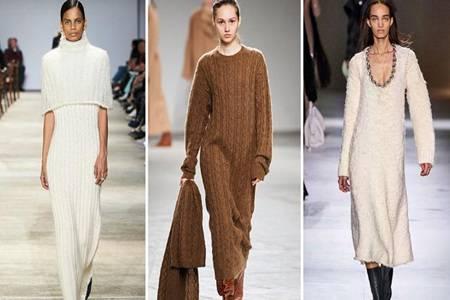 2020年秋冬女装6大流行趋势  流苏衬衫领带针织连衣裙时尚的重中之重