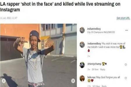 美洛杉矶说唱歌手直播中被枪杀 网友:太恐怖了还好生在中国